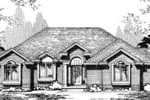 Traditional Exterior - Front Elevation Plan #20-710
