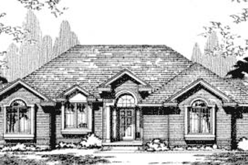 Traditional Exterior - Front Elevation Plan #20-710 - Houseplans.com