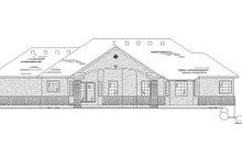 House Plan Design - Traditional Exterior - Rear Elevation Plan #5-254