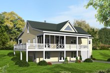 Dream House Plan - Country Exterior - Rear Elevation Plan #932-361