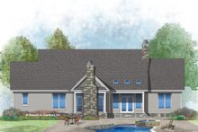 Dream House Plan - Craftsman Exterior - Rear Elevation Plan #929-1025