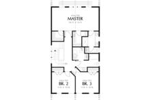 Craftsman Floor Plan - Upper Floor Plan Plan #48-490