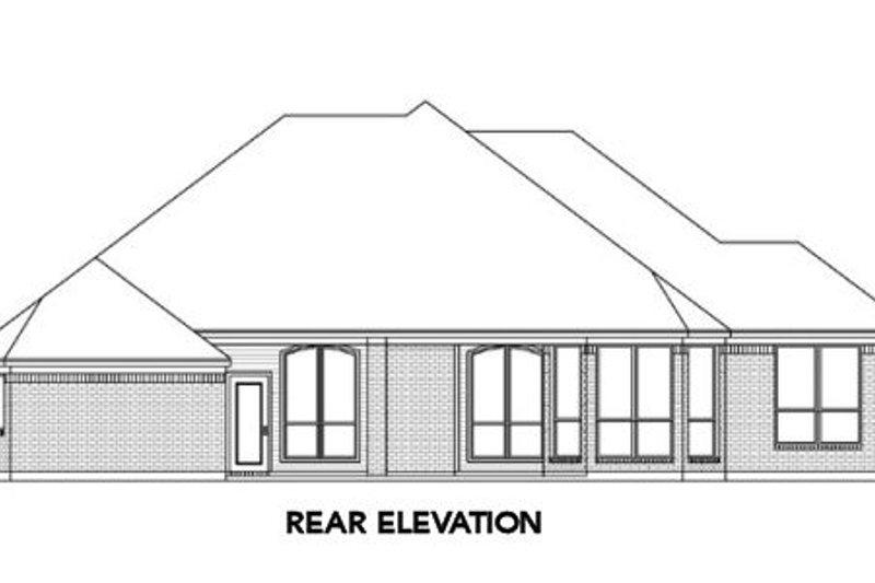 Traditional Exterior - Rear Elevation Plan #84-196 - Houseplans.com