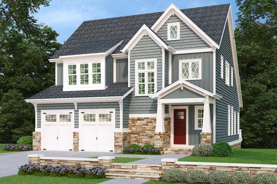 Architectural House Design - Traditional Exterior - Front Elevation Plan #927-936