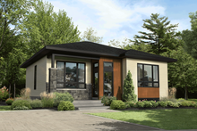 House Plan Design - Contemporary Exterior - Front Elevation Plan #25-4919