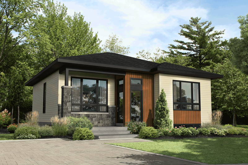 Home Plan - Contemporary Exterior - Front Elevation Plan #25-4919