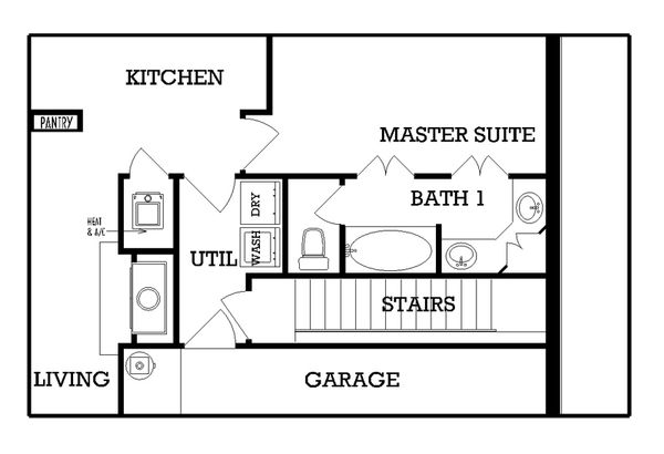 European Floor Plan - Other Floor Plan Plan #45-113