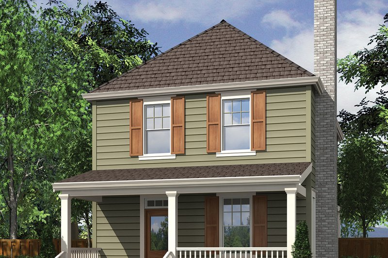 House Plan Design - Traditional Exterior - Front Elevation Plan #48-978