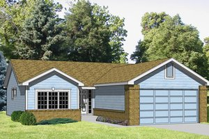 Ranch Exterior - Front Elevation Plan #116-171