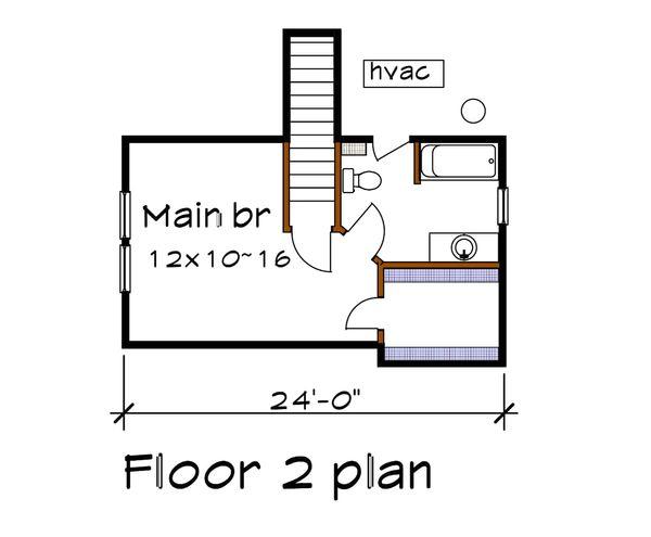 Cottage Floor Plan - Upper Floor Plan Plan #79-140