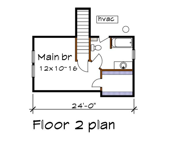 Cottage Floor Plan - Upper Floor Plan Plan #79-140