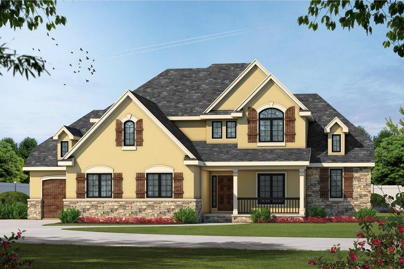 Dream House Plan - Craftsman Exterior - Front Elevation Plan #20-1825