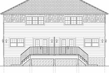 Craftsman Exterior - Rear Elevation Plan #126-197