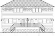 Architectural House Design - Craftsman Exterior - Rear Elevation Plan #126-197