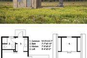 Cabin Style House Plan - 1 Beds 1 Baths 525 Sq/Ft Plan #497-51 Exterior - Other Elevation