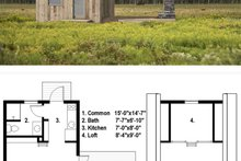 Dream House Plan - Tiny house plan 600sft 1br 1ba