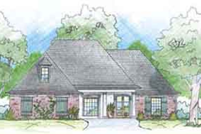 Dream House Plan - Southern Exterior - Front Elevation Plan #36-436