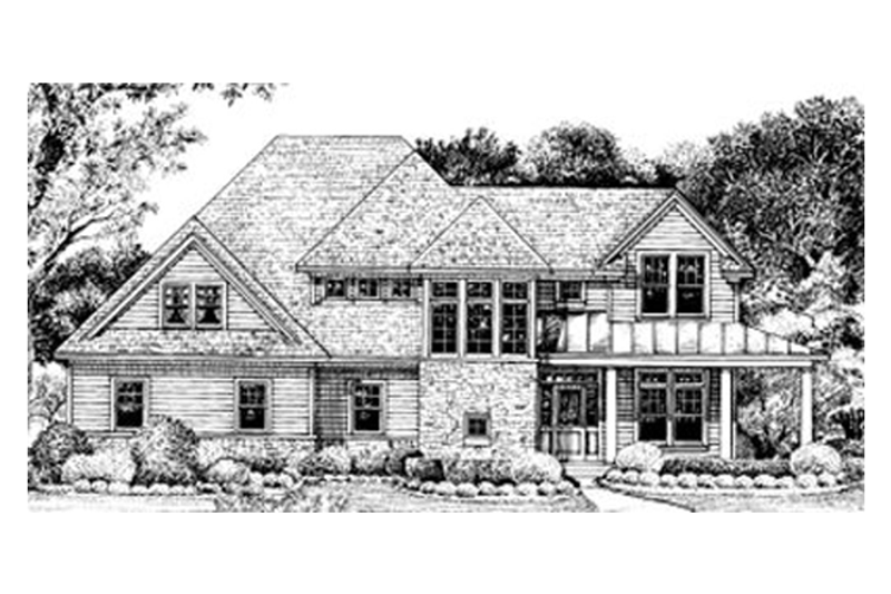Farmhouse Exterior - Front Elevation Plan #20-752 - Houseplans.com