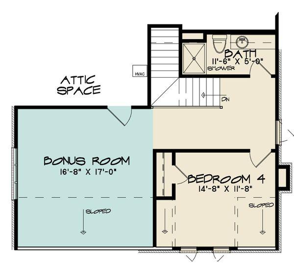 House Design - European Floor Plan - Upper Floor Plan #923-167