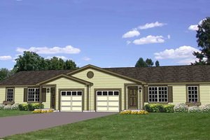 Ranch Exterior - Front Elevation Plan #116-288