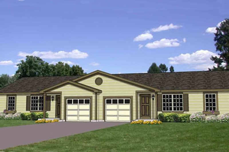 Ranch Style House Plan - 3 Beds 1 Baths 1845 Sq/Ft Plan #116-288 Exterior - Front Elevation