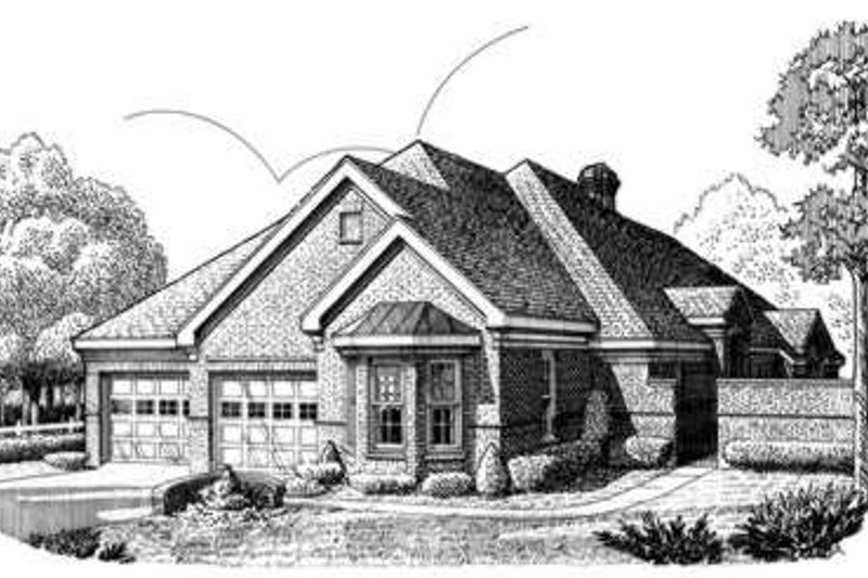 European Exterior - Front Elevation Plan #410-382 - Houseplans.com