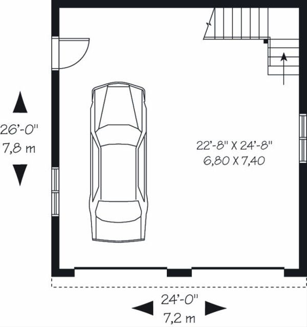 Traditional Floor Plan - Main Floor Plan Plan #23-767