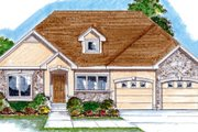 Southern Style House Plan - 2 Beds 2 Baths 1685 Sq/Ft Plan #312-662 Exterior - Front Elevation