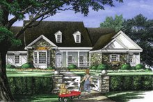 House Plan Design - Country Exterior - Front Elevation Plan #137-274