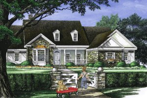Country Exterior - Front Elevation Plan #137-274