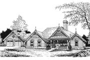 European Style House Plan - 3 Beds 2 Baths 2100 Sq/Ft Plan #417-192 Exterior - Front Elevation