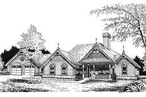 European Exterior - Front Elevation Plan #417-192
