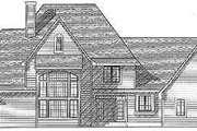European Style House Plan - 4 Beds 3.5 Baths 3650 Sq/Ft Plan #70-533 Exterior - Rear Elevation