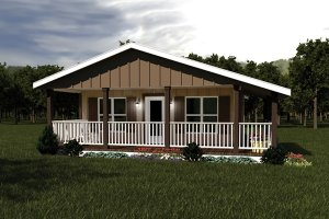 House Design - Ranch Exterior - Front Elevation Plan #57-239
