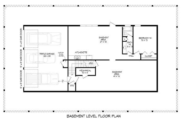 Country Floor Plan - Lower Floor Plan Plan #932-308
