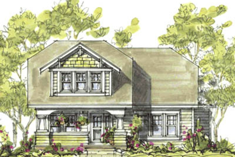 Craftsman Exterior - Front Elevation Plan #20-1228