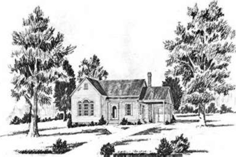 Southern Exterior - Front Elevation Plan #36-400