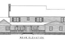 House Plan Design - Farmhouse Exterior - Rear Elevation Plan #11-125