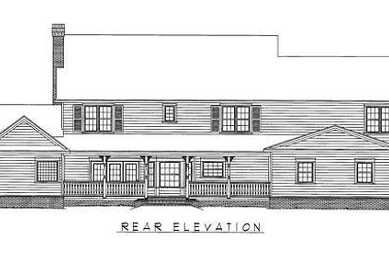 Farmhouse Exterior - Rear Elevation Plan #11-125 - Houseplans.com