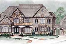 Dream House Plan - European Exterior - Front Elevation Plan #54-175