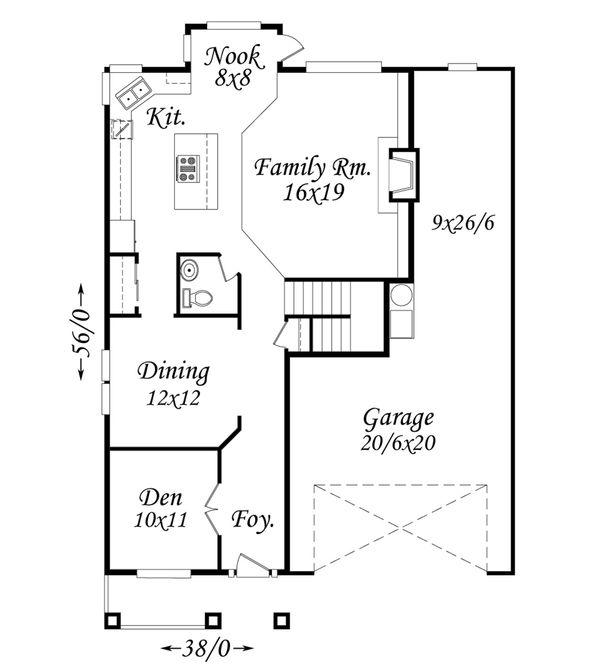 Traditional Floor Plan - Main Floor Plan Plan #509-71
