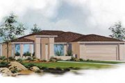 Adobe / Southwestern Style House Plan - 3 Beds 2 Baths 1969 Sq/Ft Plan #24-191 Exterior - Front Elevation