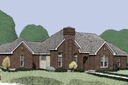 European Style House Plan - 4 Beds 3.5 Baths 1918 Sq/Ft Plan #410-345 Exterior - Front Elevation