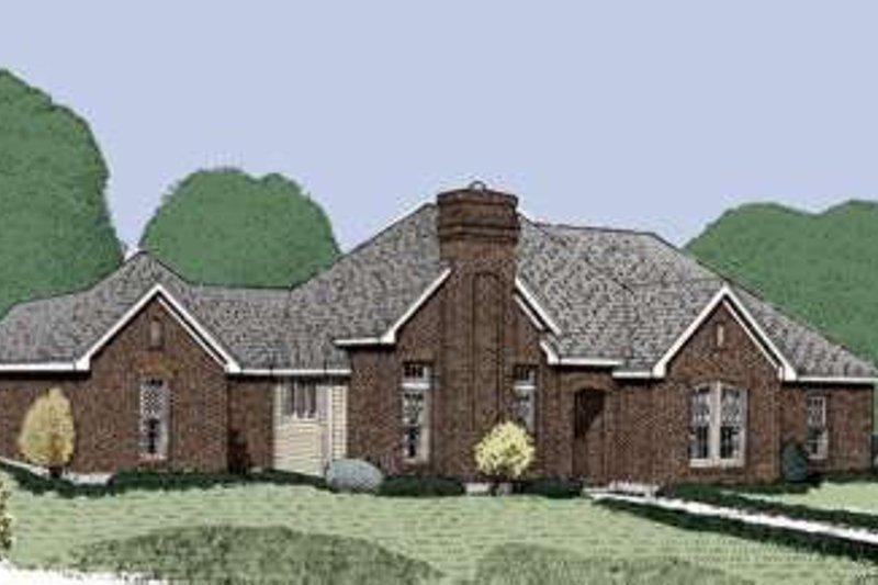 Dream House Plan - European Exterior - Front Elevation Plan #410-345