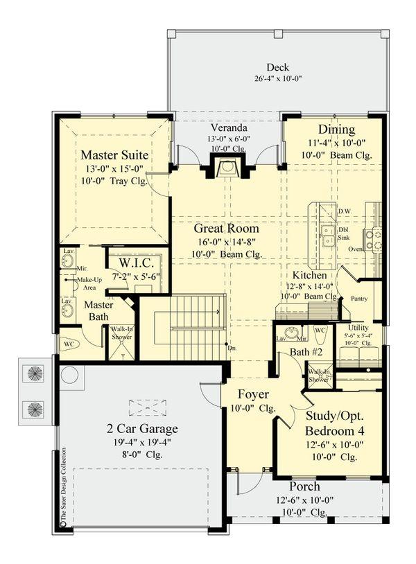 Home Plan - Country Floor Plan - Main Floor Plan #930-514