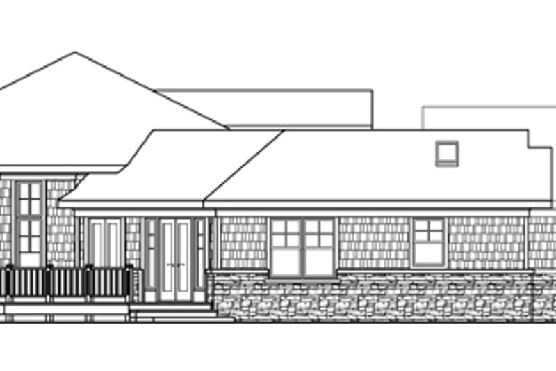 Ranch Exterior - Other Elevation Plan #124-578 - Houseplans.com