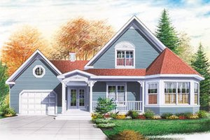 Country Exterior - Front Elevation Plan #23-249