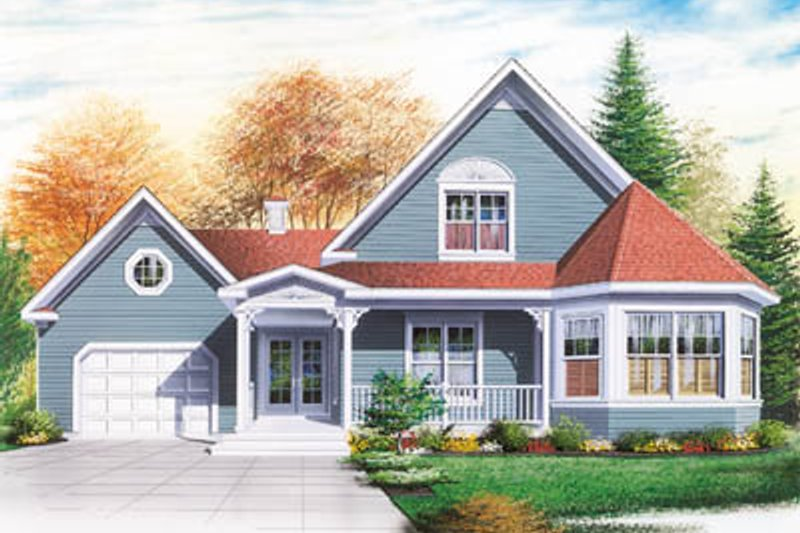 Architectural House Design - Country Exterior - Front Elevation Plan #23-249