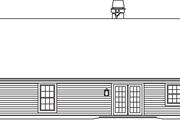 House Plan - 3 Beds 2 Baths 1510 Sq/Ft Plan #57-582 Exterior - Rear Elevation
