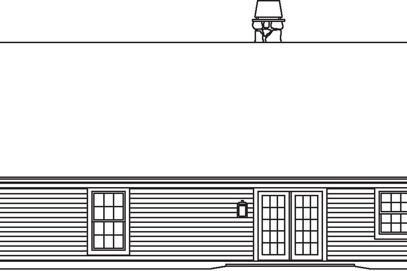 Exterior - Rear Elevation Plan #57-582 - Houseplans.com